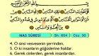 122. Nas - Türkçe Okunuşlu - Mealli Kur'an-ı Kerim Hatim Seti