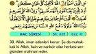 27. Hac - Türkçe Okunuşlu - Mealli Kur'an-ı Kerim Hatim Seti