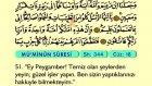 28. Mü'minûn - Türkçe Okunuşlu - Mealli Kur'an-ı Kerim Hatim Seti