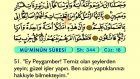28. Mü'minun - Arapça Okunuşlu - Mealli Kur'an-ı Kerim Hatim Seti