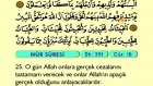 29. Nur - Arapça Okunuşlu - Mealli Kur'an-ı Kerim Hatim Seti