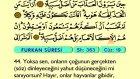 31. Furkan 21-77 - Türkçe Okunuşlu - Mealli Kur'an-ı Kerim Hatim Seti