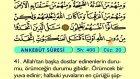 35. Ankebut - Arapça Okunuşlu - Mealli Kur'an-ı Kerim Hatim Seti