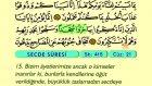 38. Secde - Arapça Okunuşlu - Mealli Kur'an-ı Kerim Hatim Seti