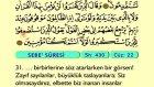 41. Sebe - Arapça Okunuşlu - Mealli Kur'an-ı Kerim Hatim Seti