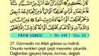 42. Fatr - Arapça Okunuşlu - Mealli Kur'an-ı Kerim Hatim Seti