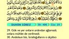 52. Duhan - Türkçe Okunuşlu - Mealli Kur'an-ı Kerim Hatim Seti