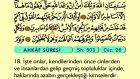 54. Ahkâf - Arapça Okunuşlu - Mealli Kur'an-ı Kerim Hatim Seti