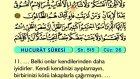 57. Hucurat - Arapça Okunuşlu - Mealli Kur'an-ı Kerim Hatim Seti