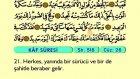 58. Kaf - Türkçe Okunuşlu - Mealli Kur'an-ı Kerim Hatim Seti