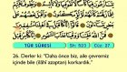 60. Tûr - Arapça Okunuşlu - Mealli Kur'an-ı Kerim Hatim Seti