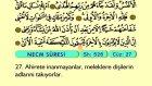 61. Necm - Arapça Okunuşlu - Mealli Kur'an-ı Kerim Hatim Seti