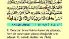 62. Kamer - Arapça Okunuşlu - Mealli Kur'an-ı Kerim Hatim Seti