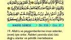 65. Hadid - Arapça Okunuşlu - Mealli Kur'an-ı Kerim Hatim Seti