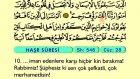 67. Haşr - Arapça Okunuşlu - Mealli Kur'an-ı Kerim Hatim Seti
