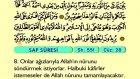 69. Saff - Türkçe Okunuşlu - Mealli Kur'an-ı Kerim Hatim Seti