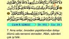 70. Cum'a - Arapça Okunuşlu - Mealli Kur'an-ı Kerim Hatim Seti