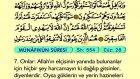 71. Münafikun - Türkçe Okunuşlu - Mealli Kur'an-ı Kerim Hatim Seti