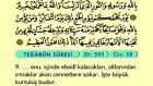 72. Teğabun - Arapça Okunuşlu - Mealli Kur'an-ı Kerim Hatim Seti