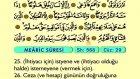 78. Mearic - Arapça Okunuşlu - Mealli Kur'an-ı Kerim Hatim Seti
