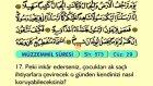 81. Müezzemil - Arapça Okunuşlu - Mealli Kur'an-ı Kerim Hatim Seti