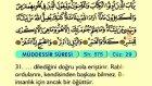 82. Müddessir - Türkçe Okunuşlu - Mealli Kur'an-ı Kerim Hatim Seti