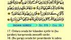 84. İnsan - Türkçe Okunuşlu - Mealli Kur'an-ı Kerim Hatim Seti