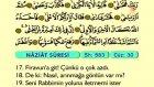 87. Naziat - Arapça Okunuşlu - Mealli Kur'an-ı Kerim Hatim Seti