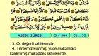 88. Abese - Arapça Okunuşlu - Mealli Kur'an-ı Kerim Hatim Seti
