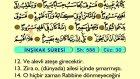 92. İnşikak - Türkçe Okunuşlu - Mealli Kur'an-ı Kerim Hatim Seti