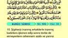 93. Büruc - Türkçe Okunuşlu - Mealli Kur'an-ı Kerim Hatim Seti