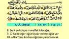 95. A'lâ - Türkçe Okunuşlu - Mealli Kur'an-ı Kerim Hatim Seti