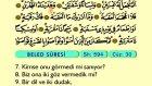 98. Beled - Türkçe Okunuşlu - Mealli Kur'an-ı Kerim Hatim Seti