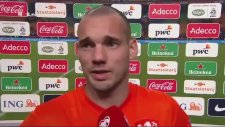 Sneijder kendini zor tuttu!