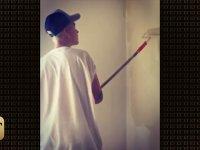 Cezalı Justin Bieber'ın Duvar Boyaması