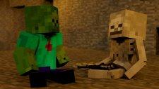 Minecraft İskelet VS Zombi Türkçe Rap ft.GreenBrain - Diss Kapışmaları #3