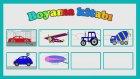 Eğitici çizgi film - Boyama kitabı - Roket ve balon