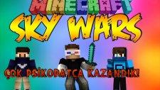 ÇOK PSİKOPATÇA KAZANDIK!- Minecraft Sky Wars- Minecraft Gökyüzü Savaşları! w/Barış Oyunda,AzizGaming