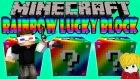 Gökkuşağı Şans Blokları (Minecraft Rainbow Lucky Block) - Kafam Dönüyor! W/ Türkçe Takıntılı Oyuncu