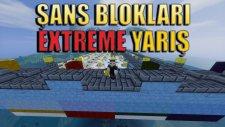 Minecraft ŞANS BLOKLARI - Extreme ŞANSLI YARIŞ! - Zorluk Üstüne Zorluk!