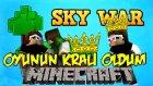 OYUNUN KRALI OLDUM! - Minecraft Sky Wars! - Minecraft Gökyüzü Savaşları!