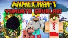 UÇAN HACKER VE BugraaK - Türkçe Minecraft Yumurta Savaşları(Egg Wars) w/ Minecraft Evi , Wolvoroth