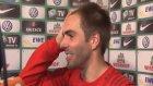 Lahm ve Müller'in röportajında davetsiz misafir!