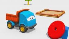 Meraklı kamyon Leo ve oyuncak piramidi - eğitici çizgi film - türkçe