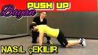 Bayan, push up/sinav Nasıl Cekilir, Gogus Kasi icin Egzersiz, Türkce Tutorial