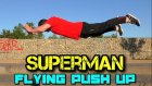 Superman Flying push up nasil yapilir, turkce Tutorial, Plyometric Antrenman