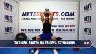 Oturarak Çift Kol Dambıl Triceps Açma - Evde Kol Kası Geliştirme Hareketleri