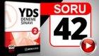 SORU 42 YDS Çeviri Sorusu ve Çözümü