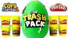Çöps Çetesi Oyun Hamuru DEV Sürpriz Yumurta Açma 100 Farklı Trash Pack Oyuncak Figürler