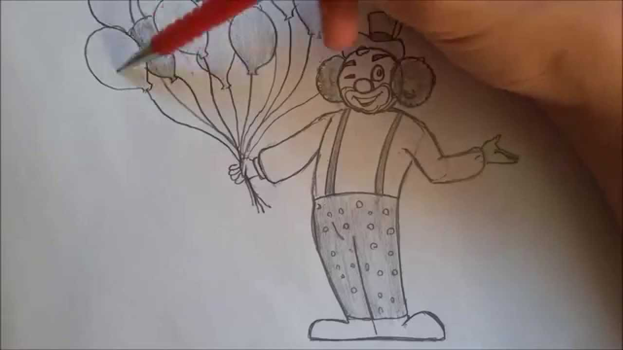 Palyaço Karakalem çizimi Izlesenecom